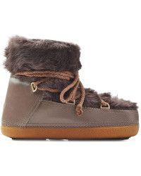Inuikii | Fur Ikkii Classic Low Boots - Brown | Lyst