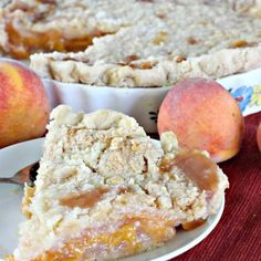 Peach Crumb Pie is just one of those pies. It's filled with a basic peach pie filling–nothing fancy, not even cinnamon–and then topped with crumb topping. The secret is slow cooking the pie in a Peach Crumb Pie, Peach Pie Filling, Elvis Presley Cake, Tulip Tie Dye, Apple Pie, Slow Cooker, Cooking, Desserts, Food