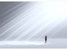 Tokujin Yoshioka, Twilight installation with artificial smoke and beams of light