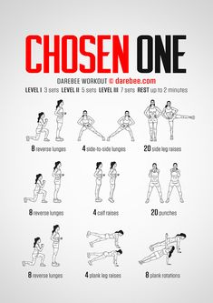 Chosen One is the Darebee workout you go to before you're chosen so you can chosen. Darbee Workout, Hiit Workout At Home, Boxing Workout, At Home Workouts, Cardio, Warrior Workout, Workout Exercises, Workout Guide, Workout Routines