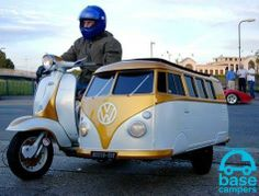 Best of both worlds. Campervan sidecar