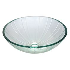 """Fauceture EVSCFC1 Constellation 1/2"""" Crystal Glacier Vessel Sink, Clear - Price: $349.95 & FREE Shipping over $99"""