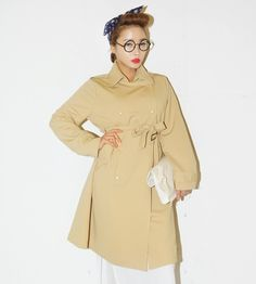 Snap Buttoned Trench Coat