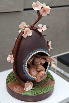 Bunny Hatched Egg - from the Montage Laguna Beach, in our EGGstravaganza Holiday Display at The JW Marriott Los Angeles L.A. LIVE
