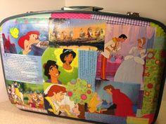 Decoupage suitcase for girls marionsretreat.com/blog