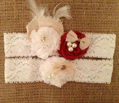 Garter Bridal Wedding Garter Burlap Garter by TheHeritageBride, $29.99