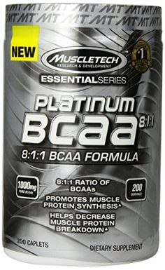 MuscleTech Platinum BCAA Pill, 8:1:1 BCAA Formula, 1000mg of BCAA per Caplet, 200 Caplets -- Read more  at the image link.