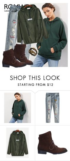 """267. ROMWE"" by slovak-queen1997 ❤ liked on Polyvore featuring New Look, Oris, romwe, Hoodies and greenhoodies"