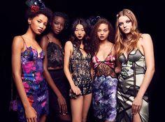 Roos Abels Dutch Model NYFW 2017 Fall LA PERLA