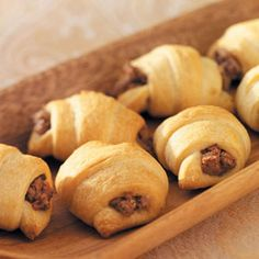 Beef-Stuffed Crescents Recipe. this is a different one from the rattlesnakes. I know what I am making for poker night.