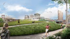 Galería de WXY propone 200 mil metros cuadrados de espacio público para Brooklyn - 4