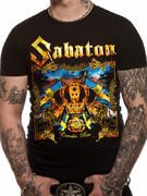 Officially licensed Sabaton t-shirt design printed on a black 100% cotton short sleeved T-shirt.