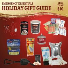 Emergency Essentials Holiday Gift Guide for gifts less than $10