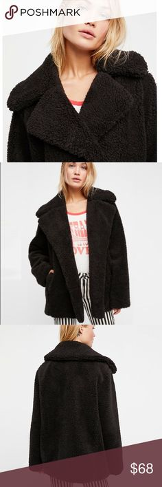 """Plush Faux Fur Teddy Coat JACKET BRAND NEW!! So soft plush coat featuring an effortless shape perfect for staying cozy all season long.  • Front pockets  S: Bust: 44.5""""/Length: 31.4"""" M: Bust: 46.5""""/Length: 31.8"""" L: Bust: 48.4""""/Length: 32.2"""" XL: Bust: 49.8""""/Length: 32.6""""  🌟🌟Item is Brand New, direct from the Manufacturer, & Sealed in Pkg. 🌟🌟 austin gal Jackets & Coats"""