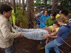 Low ropes courses make for great fun and a fantastic outdoor team-building activities!