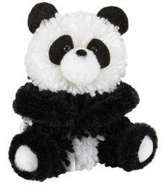 Wool Dolls, Yarn Dolls, Fabric Dolls, String Crafts, Craft Stick Crafts, Pom Pom Crafts, Yarn Crafts, Pom Pom Puppies, Panda Craft