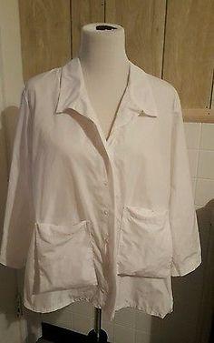SUN KIM White Boxy Shirt Jacket Extra Large NWT