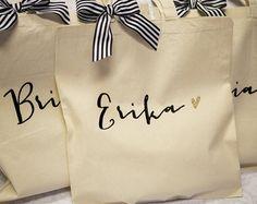 Bolsa personalizada de regalo para damas de honor por ZCreateDesign