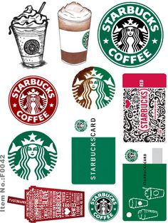 Starbucks logo and rewards card printable Starbucks Logo, Starbucks Crafts, Sticker Printable, Printable Planner, Planner Stickers, Printables, Free Printable, Starbucks Birthday Party, Tumblr Stickers