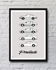 Honda Prelude Generations Poster on Etsy, $25.00