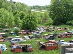 Large Volkswagen bone yard outside Cambridge Ohio