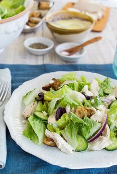 20 Lunch Recipes to Know by Heart — Lunch Recipes from The Kitchen.  Greek chicken salad