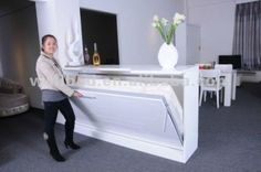 Image result for wall beds ikea - could this idea be used for the bar in the basement?
