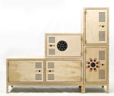 plywood lockers!