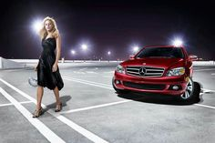 Red Mercedes & Nice Girl
