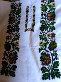 Cămașă d2 Palestinian Embroidery, Embroidery Fashion, Diy And Crafts, Traditional, Quilts, Beads, Handmade, Design, Cross Stitch Embroidery