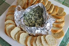 Bring the party favorite outdoors by whipping up this four-ingredient spinach dip.  Get the recipe at Twin Dragonfly Designs.