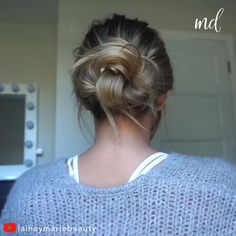 4 easy ways to do a low messy bun By: Laineymariebeauty to do a messy bun Messy Bun For Short Hair, Bun Hairstyles For Long Hair, Work Hairstyles, Low Hair Buns, Simple Buns For Medium Hair, How To Make Messy Bun, Low Messy Buns, Athletic Hairstyles, Perfect Messy Bun