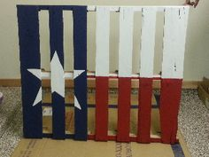 Charmant Texas Flag Pallet   Patio Decor I LOVE This ! I Need An Old Pallet.