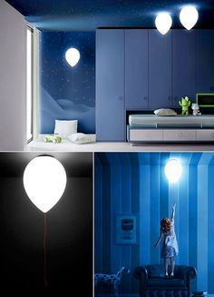 Light with on-off cord shaped like a balloon