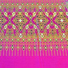 Stoff Überwurf Polyester Decke Tischtuch 1x2m pink gold
