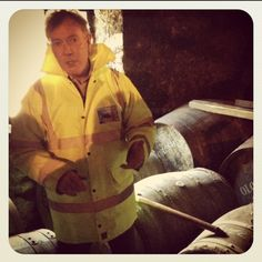 With @bruichladdich 's Jim McEwan tasting cask samples! #fb