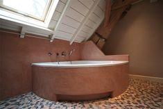 Terracotta badkamer met Tadelakt