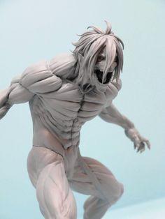 Attack on titan Body Drawing, Anatomy Drawing, Anatomy Art, Figure Drawing, Action Pose Reference, Human Poses Reference, Anatomy Sculpture, Sculpture Art, Dark Fantasy Art