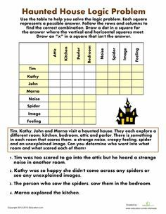 Worksheets: Haunted House Logic Problem