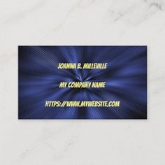 Shop Midnight Blue Website Business Card created by Liveandheal. Personalize it with photos & text or purchase as is! Premium Business Cards, Salon Business Cards, Artist Business Cards, Unique Business Cards, Professional Business Cards, Business Card Design, Blue Website, Promote Your Business, Business Website