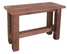 Complete the collection with this Grove Reclaimed Barn Wood Sofa Table from DutchCrafters Amish Furniture. Woodworking Furniture Plans, Amish Furniture, Furniture Projects, Wood Projects, Woodworking Projects, Furniture Making, Reclaimed Wood Furniture, Reclaimed Barn Wood, Barnwood Doors