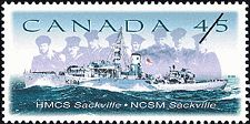 Postal Administration: Canada     Title: HMCS Sackville     Denomination: 45¢     Date of Issue: 4 November 1998