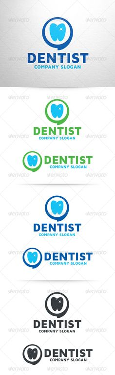 Dentist  - Logo Design Template Vector #logotype Download it here: http://graphicriver.net/item/dentist-logo-template/6922481?s_rank=543?ref=nesto