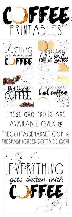 Printable Art: the coffee collection Free coffee inspired printables - these would be so cute in my coffee station.Free coffee inspired printables - these would be so cute in my coffee station. Free Printable Art, Free Printables, Printable Quotes, Coffee Printable, Coffee Art, My Coffee, Coffee Crafts, Coffee Shop, Coffee Lovers