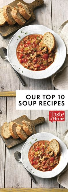 Our Top 10 Soup Recipes