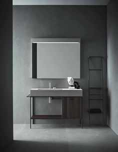 """Craft is Novello's last goal in its continuous research for functionality and aesthetic. It is a bathroom furniture collection that recovers the craftsmanship in contemporary form"" - LUXE DESIGN - (Novello collection, Venice, Italy) Bad Inspiration, Bathroom Inspiration, Interior Design Inspiration, Minimal Bathroom, Modern Bathroom, Bathroom Grey, Master Bathroom, Furniture Sets Design, Beton Design"