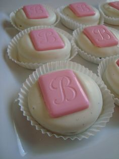 12 Chocolate Monogram Letter Initials Cookie by rosebudchocolates