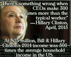 Hypocrite that has convinced her voter base that they're stupid!