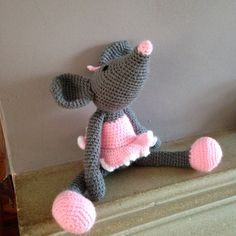 Handmade crochet dancing mouse by Bitzas on Etsy