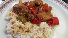 ΜΑΓΕΙΡΙΚΗ ΚΑΙ ΣΥΝΤΑΓΕΣ: Σπετζοφάι με στήθος κοτόπουλο !!! Cooking Recipes, Rice, Meals, Food, Chicken, Rabbits, Exercises, Meal, Eten